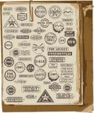 Colección del vector de sellos de goma Imagenes de archivo