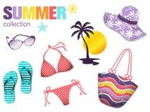 Colección del verano Foto de archivo libre de regalías