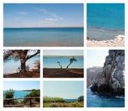 Colección del verano de los paisajes marinos Imagenes de archivo