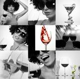 Colección del vino fotografía de archivo