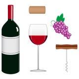 Colección del vino Imagen de archivo libre de regalías
