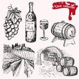 Colección del vino Stock de ilustración