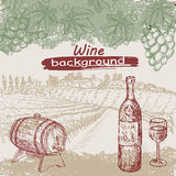 Colección del vino Ilustración del Vector