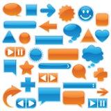 Colección del Web - azul y naranja Fotografía de archivo libre de regalías