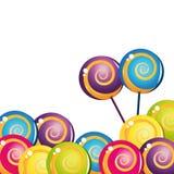 Colección deliciosa colorida del lollipop Foto de archivo libre de regalías