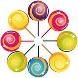 Colección deliciosa colorida del lollipop Fotografía de archivo libre de regalías