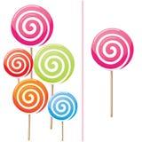 Colección deliciosa del lollipop Fotos de archivo libres de regalías