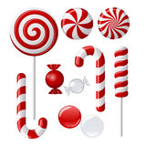 Colección deliciosa del lollipop Imagen de archivo