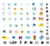 Colección diseño de 90 de más insignias de la compañía Foto de archivo
