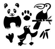 Colección divertida de los animales Imagen de archivo libre de regalías