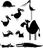 Colección divertida de los animales Foto de archivo libre de regalías