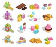 Colección dulce de los pasteles de las mercancías libre illustration