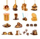 Colección dulce de productos Fotos de archivo