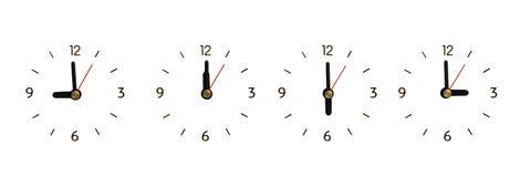 Colección el reloj sin números aislado Imágenes de archivo libres de regalías