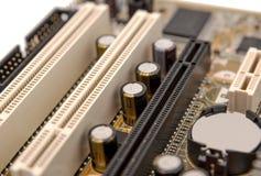 Colección electrónica - componentes digitales en motherboa del ordenador Fotos de archivo libres de regalías