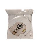Colección electrónica - impulsión CD delgada externa portátil del DVD Fotos de archivo libres de regalías