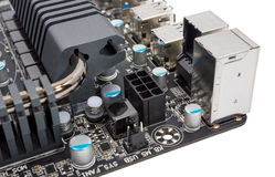 Colección electrónica - procesador moderno del sistema eléctrico polifásico Imagen de archivo