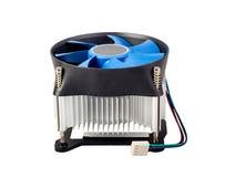 Colección electrónica - refrigerador de la CPU Imagen de archivo libre de regalías