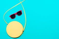 Colección elegante colorida de los accesorios del verano de la mujer Imagen de archivo