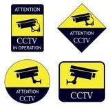 Colección en funcionamiento del tablero del CCTV libre illustration