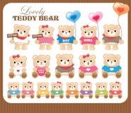 Colección encantadora de los osos de peluche