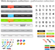 Colección enorme de gráficos del Web Imágenes de archivo libres de regalías