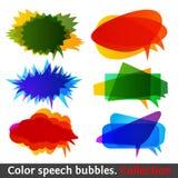 Colección eps10 de las burbujas del discurso del color Fotografía de archivo