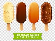 Colección esquimal de la empanada del helado stock de ilustración
