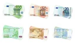 Colección euro Imágenes de archivo libres de regalías
