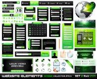 Colección extrema BlackGreen de los elementos del diseño de Web stock de ilustración