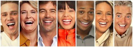 Colección feliz de la gente fotos de archivo