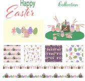 Colección feliz de Pascua stock de ilustración