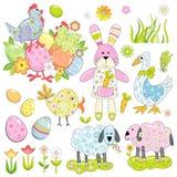 Colección de elementos de Pascua Imagenes de archivo