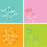 Colección floral de la tarjeta Fotografía de archivo