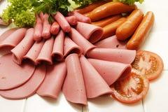 Colección fría de la carne de la tienda de delicatessen Fotos de archivo libres de regalías