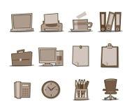Colección fresca retra de los iconos universales - conjunto 2 Imagen de archivo