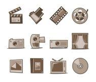 Colección fresca retra de los iconos universales - conjunto 4 Fotografía de archivo libre de regalías