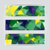 Colección geométrica abstracta de los jefes con los polígonos triangulares libre illustration