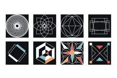 Colección geométrica de los símbolos Fotos de archivo libres de regalías