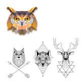 Colección geométrica de los tatuajes ilustración del vector