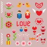 Colección geométrica del amor Foto de archivo libre de regalías