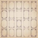 Colección grande de bastidores caligráficos del vintage - sistema del vector Fotos de archivo libres de regalías