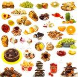 Colección grande de dulces Foto de archivo libre de regalías