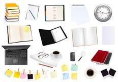 Colección grande de fuentes del asunto y de oficina. Fotografía de archivo