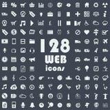 Colección grande de iconos del web Imagen de archivo libre de regalías