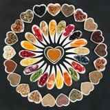 Colección grande de la comida sana imagen de archivo