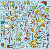 Colección grande de las herramientas Imagenes de archivo