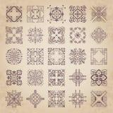 Colección grande de ornamentos caligráficos decorativos en estilo del vintage Foto de archivo libre de regalías