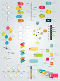 Colección grande de plantilla de la cronología ilustración del vector