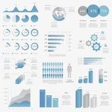 Colección grande de vect infographic del negocio moderno libre illustration